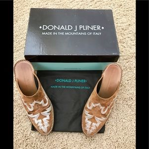 Donald J. Pliner Suede Mules